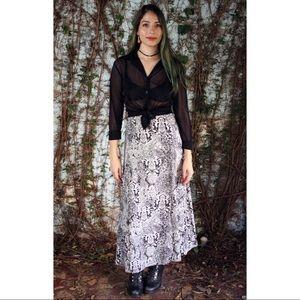 Silk paisley maxi skirt